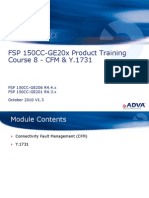 Adva - Training - FSP 150CC-GE20x R4.x Course - 8 - CFM and Y.1731