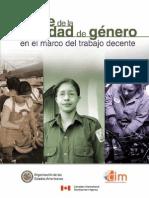 Avance de La Igualdad de Genero en El Trabajo Decente