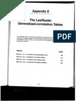 Lee Kesler Correlation Table