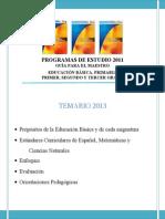 PROGRAMAS DE ESTUDIO DEL 2° PERIODO