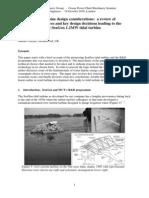 Practical Tidal Turbine Design Considerations