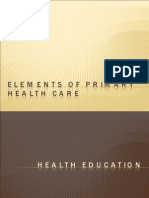 Elements of Primary Health Care