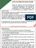 Modelo Matemático Columna de Destilación