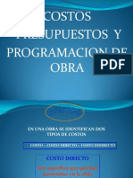 1.- Costos Directos e Indirectos - Formula P. Octubre