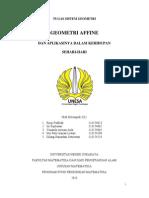 Makalah Geometri Affine (Revisi)