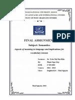 Semantics Final. Assignment.
