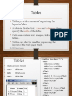 Frames Tables Forms