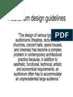 Auditorium Design Guidelines