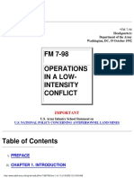 Operations in a Low Intensity Conflict