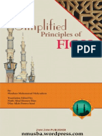 Simplified Principles of Fiqh by Shaykh Moulana Muhammad Mahyudeen