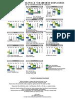 2014 Payroll Calendar for Student Employees