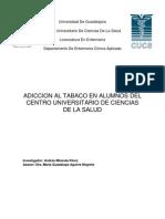 Adiccion Al Tabaco en Estudiantes Del Centro Universitario de Ciencias de La Salud