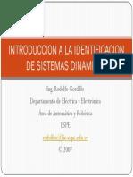 Introduccion a La Identificacion de Sistemas Dinamicos