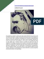 Ramón Chaverry- ART- Nietzsche en la Obra de Michel Foucault-