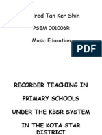 Recorder Teaching