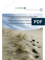 'Supporting the European Parliament on Climate Change – the Role