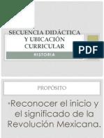 Ubicacion Curricular y Secuencia historia