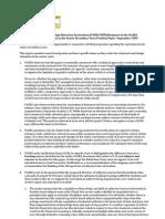 VADEA Response Senior Curriculum Paper