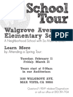 Walgrove School Tour