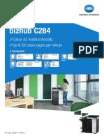 bizhub C284e multifunction printer