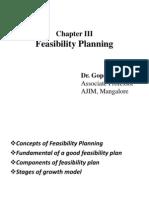 Chapter III Feasibility Plan