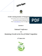 Conferance Brochurer Sustaining Growth in the Era of Global Competetion