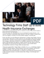 Technology Firms Staff Up to Build Health-Insurance Exchanges - hCentive news