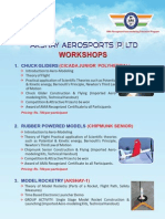 Aero Sports Workshop Brochure