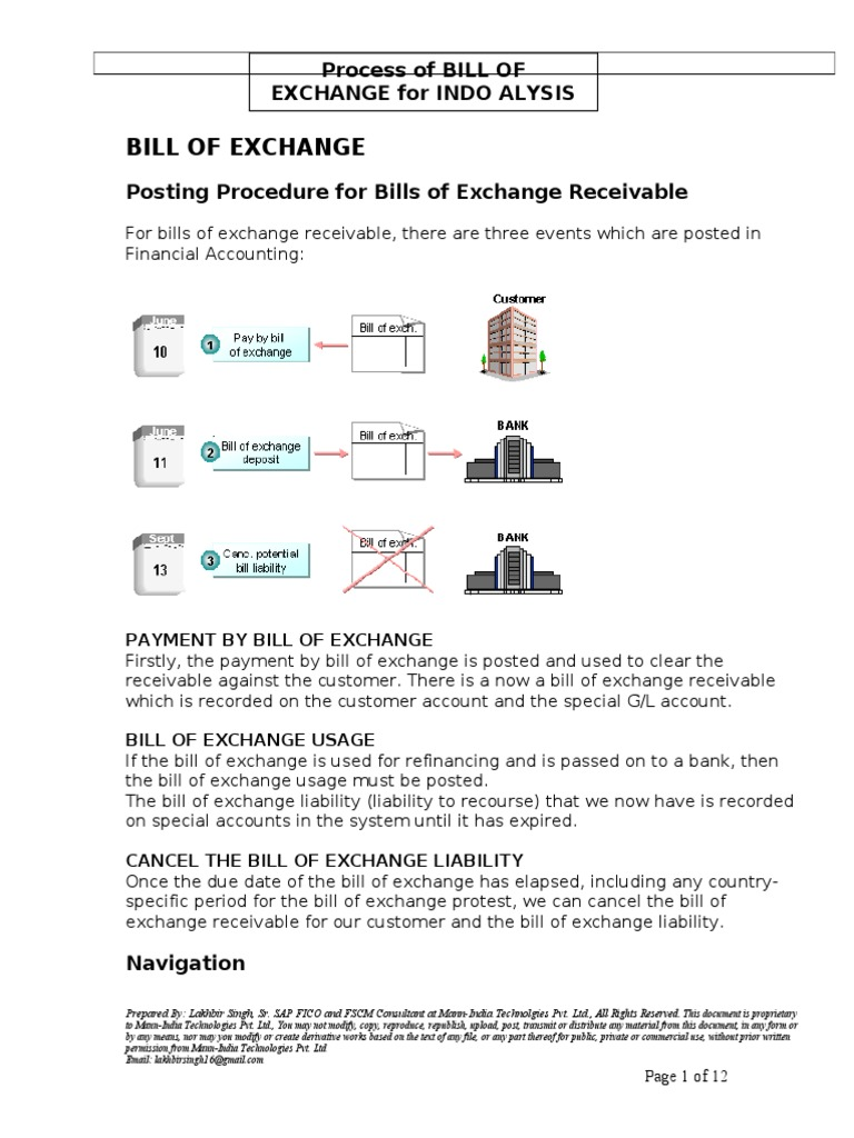 Sap bill of exchange process payments money altavistaventures Images