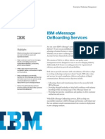 IBM eMessage Services 2013 - On Boarding Services