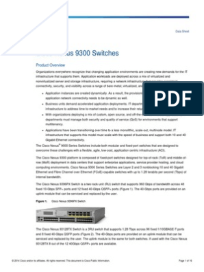 Datasheet Nexus 9300 | Network Switch | Ethernet