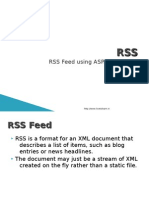Creating RSS feed
