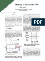 analog challenge of nanometer CMOS