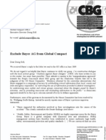 2009-08-25 - Second letter to Global Compact Office about Bayer