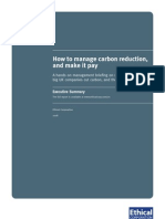 Ethical Corporation report summary - Carbon Reduction Commitment