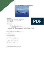 Internship Program Lufthansa German Airlines