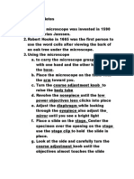 Microscope 2 Notes