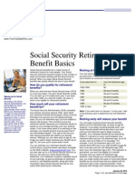 social security retirement benefit basics