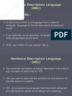 Hardware Description Language (HDL) Introduction to HDL :