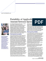 portability of applicable exclusion amount between spouses