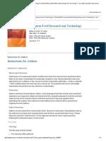 European Food Research and Technology A _ Zeitschrift für Lebensmittel-Untersuchung und -Forschung A - incl