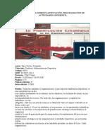 Bibliografia Planificacion Programacion de Actividades