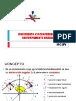 9 - Movimiento Circunferencial Uniformemente Variado
