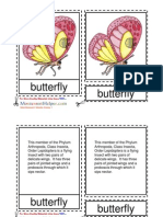 Montessori Butterfly Nomenclature Cards Ages 6 to 9