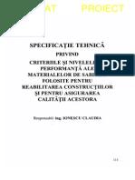 ST 003 - 1996 - Niv de Perform Ale Mat de Sablare Fol Ptr Reabilitarea Constr