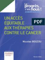 Nicolas Bouzou – Un accès équitable aux thérapies contre le cancer