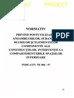 NE 006 - 1997 - Interventii La Compartimentarile Spatiilor Interioare