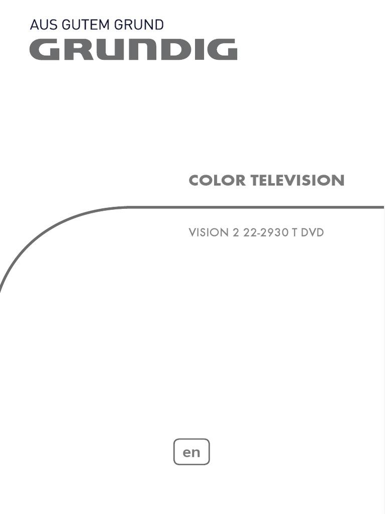 Grundig vision 2 19 2930 t dvd tv/ television download manual for.