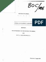 Mineral Development Agreement Between GOL and Mittal Steel 2005