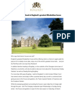Bumper year ahead at England's greatest Elizabethan house